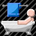 bath, bathroom, bathtub, house, tub