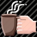 coffee, cup, drink, hand, mug