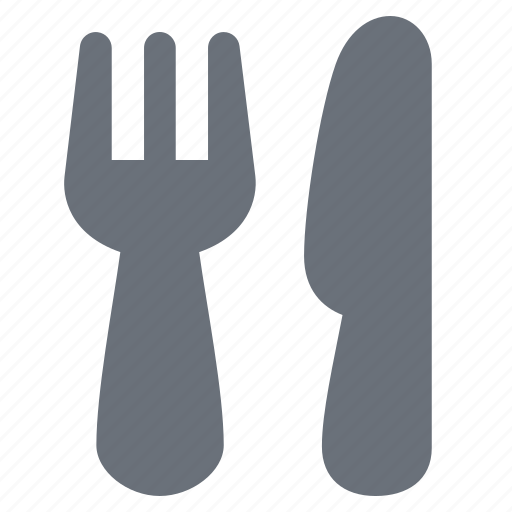 cutlery, fork and knife, holiday, hotel lobby, pika, service, simple, travel, vacation icon