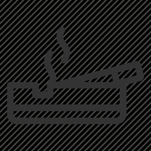 area, hotel, room, smoking icon