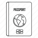 journey, line, outline, pass, passport, tourism, travel