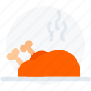 chicken, cooking, food, healthy, restaurant, roast icon icon