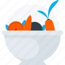 food, healthy, salad, salad bowl, vegetable icon icon