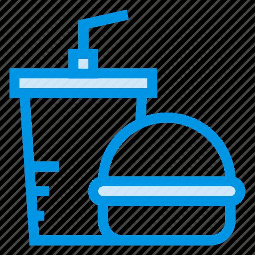 Burger, drink, eat, fastfood, food, hamburger, junkfood icon - Download on Iconfinder