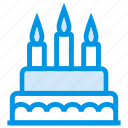 birthday, cake, candle, christmas, food, honey, sweet icon