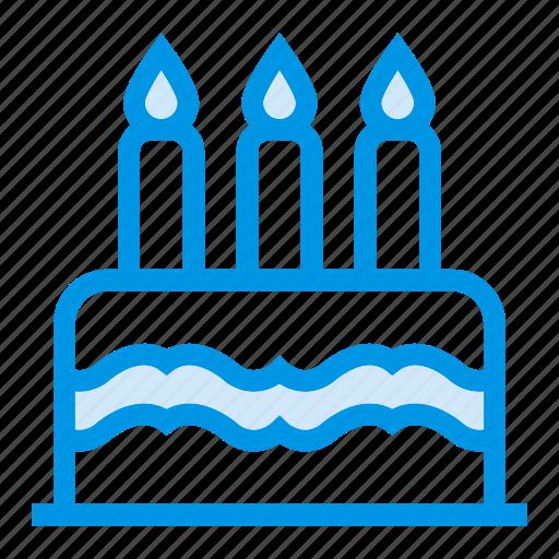 cake, candle, celebration, love, romance, sweets, wedding icon