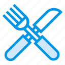 fork, kitchen, knife, restaurant, service, tools, utensils icon