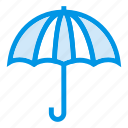 beach, holding, protection, rain, summer, umbrella, vacation icon