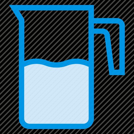 beaker, drink, jug, kitchen, milk, water, waterjug icon
