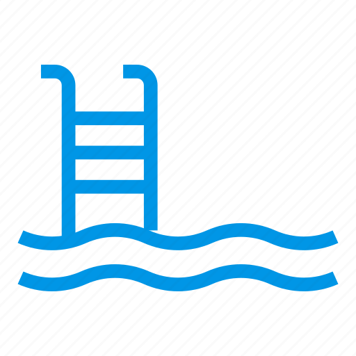 pool, short, sport, stairs, swiming, swimmer, water icon
