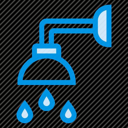 bath, bathroom, drop, rain, shower, washup, water icon