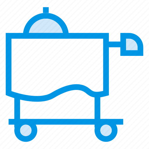 foodservice, hotel, hoteltrolley, restaurant, service, serving, trolley icon