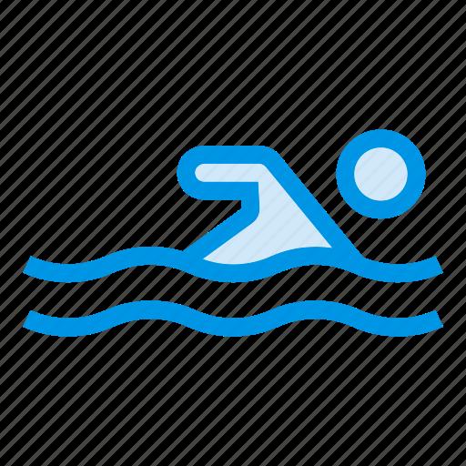 Aqua, pool, sport, swim, swiming, swimmer, water icon - Download on Iconfinder
