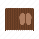 carpet, door, doormat, floor, mat, shoe icon