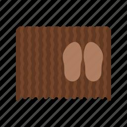 carpet, door, doormat, floor, mat, shoe icon