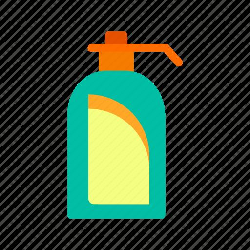 bottle, hand, handwashing, shampoo, soap, washing, white icon