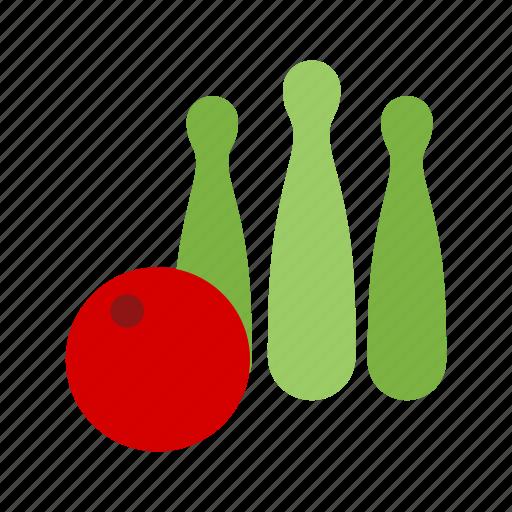 ball, bowl, bowling, pins, play, sport, throw icon
