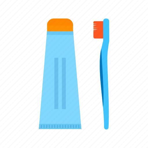 brush, dental, oral, tooth, toothbrush, toothpaste, white icon