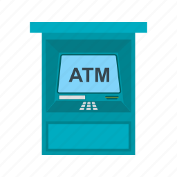 atm, card, cash, fax machine, money, receipt, withdraw icon