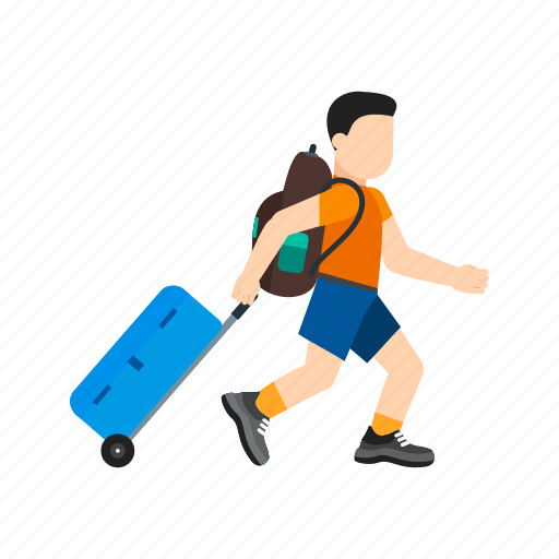 bag, baggage, hotel, luggage, suitcase, travel, vacation icon