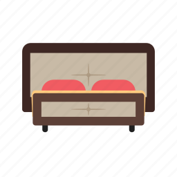 apartment, bed, furniture, modern, relaxation, room, single icon