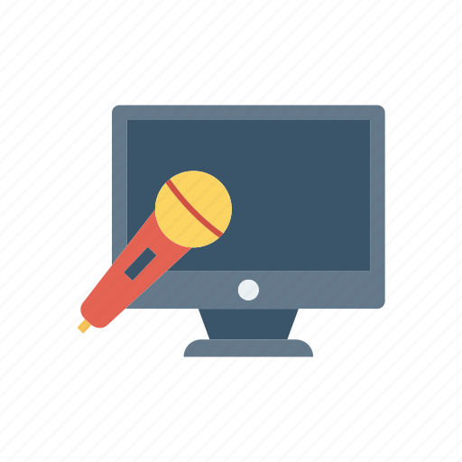 display, lcd, mic, monitor icon