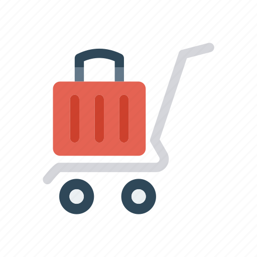 bag, dolly, luggage, trolley icon