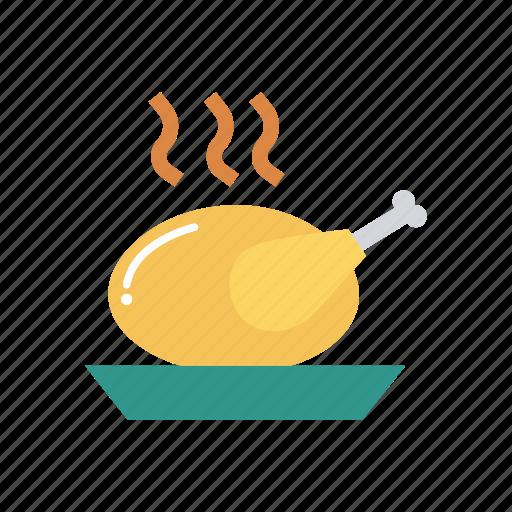 chicken, food, legpiece, meat icon