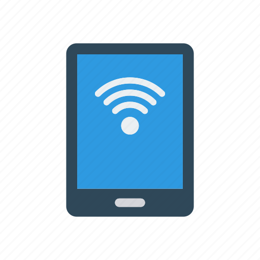 device, mobile, phone, wifi icon