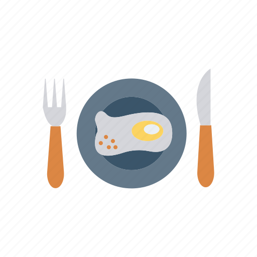 dish, food, fork, omelette icon