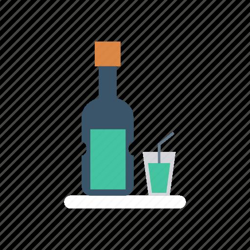 bottle, champagne, glass, wine icon