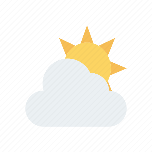 cloud, shine, sun, weather icon