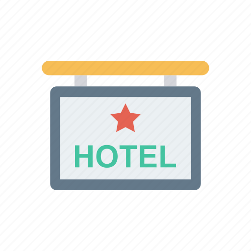 board, frame, hotel, sign icon