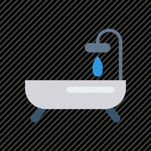 bath, shower, tub, water icon