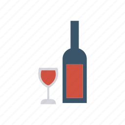 beer, bottle, glass, wine icon