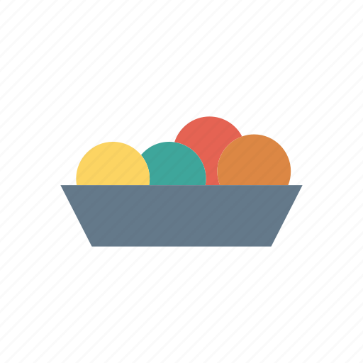 bowl, cream, food, ice icon