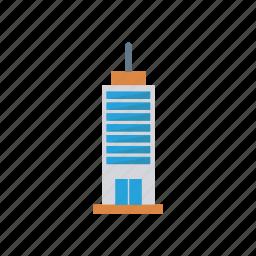 building, estate, hotel, plaza icon