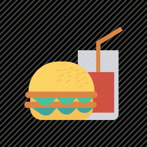 burger, drink, fastfood, juice icon