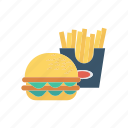 burger, eat, fastfood, fries icon