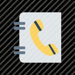 book, call, contact, record icon