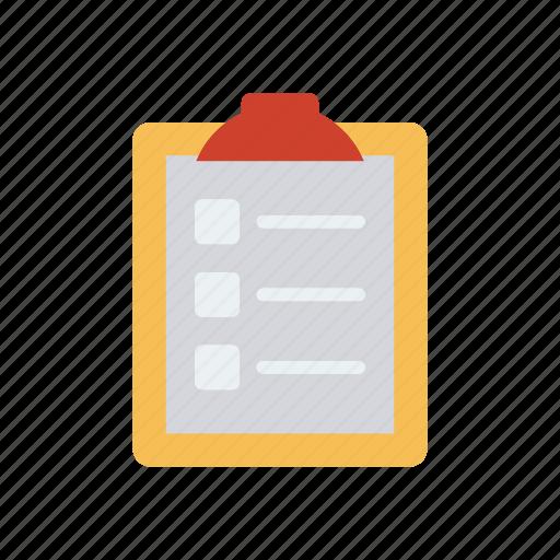 checklist, clipboard, document, tasklist icon