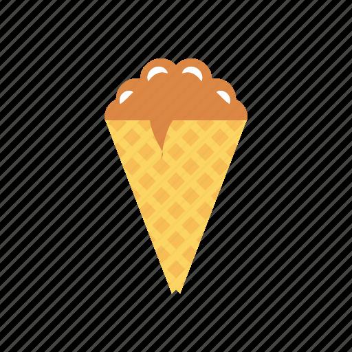 cone, cream, ice, sweet icon