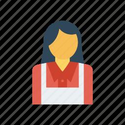 cook, female, waiter, women icon