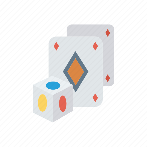 cards, dice, game, playing icon