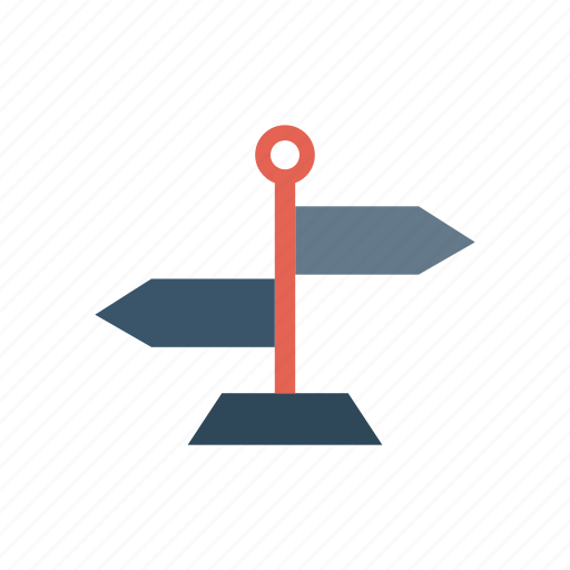arrow, board, direction, sign icon