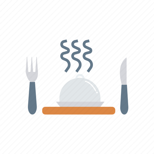 cover, dish, food, utensils icon