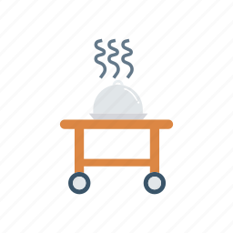 dish, food, meal, trolley icon