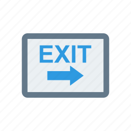 board, exit, frame, sign icon