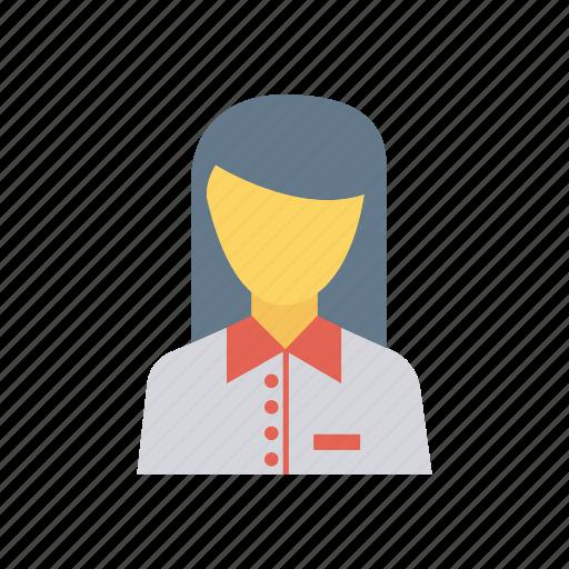 employee, female, lady, women icon