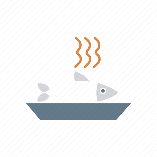 dish, eat, fish, food icon